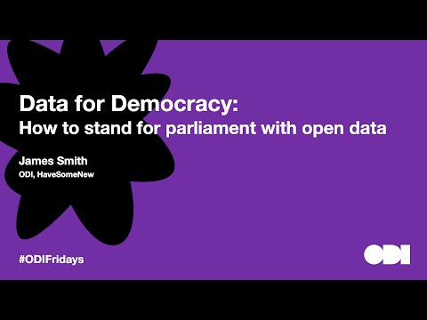 Friday lunchtime lecture: Data for democracy – how to stand for parliament with open data