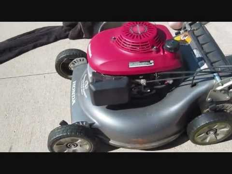 changing oil  honda lawn mower youtube