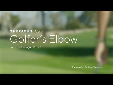 Theragun Golf   Treating Golfer's Elbow with your Theragun