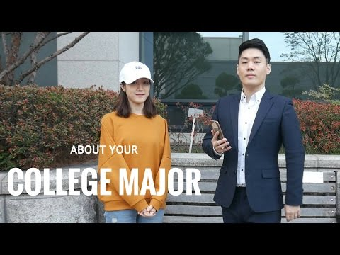 Choosing Your College Major [ENG/KOR]