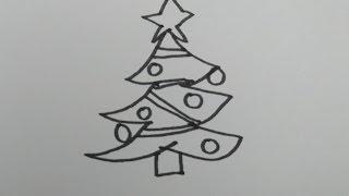 畫一棵聖誕樹 How to Draw a Cartoon Christmas Tree