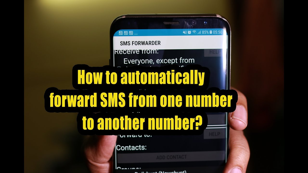 How to automatically forward SMS from one number to another number?