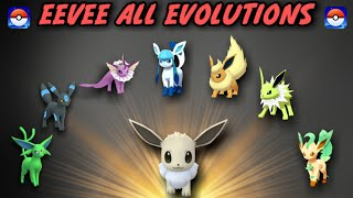 Pokemon go eevee evolution   how to evolve eevee into all forms   how to get all eevee evolutions.