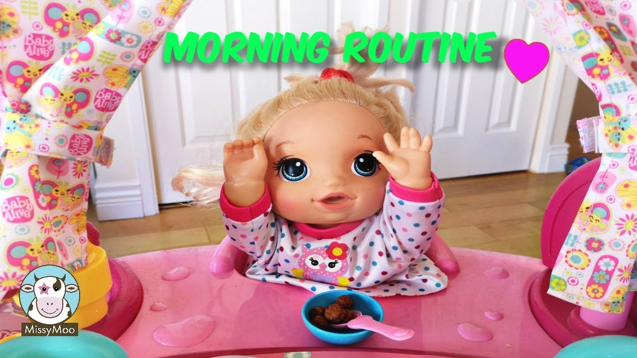 Baby Alive Morning Routine With Juliet Youtube