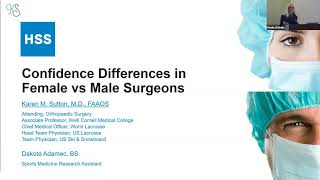 Confidence Differences in Female v Male Surgeons - Karen Sutton MD, Visiting Professor