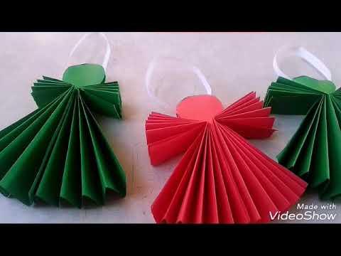 Manualidad De Papel Para Navidad Angelitos De Papel Youtube