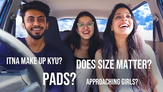 Girls Answer *UNCOMFORTABLE* Questions guys are too afraid to ask | @The Taneeshow @Avanti Nagral