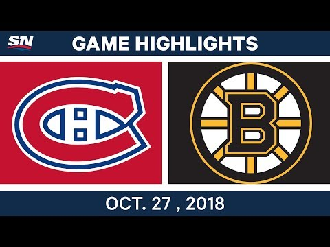 NHL Highlights | Canadiens vs. Bruins - Oct. 27, 2018