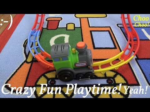 Toy Train Play Set: Little Tikes' Tumble Train Unboxing and Super Crazy Fun Playtime!