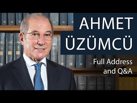 Ahmet Üzümcü | Full Address & Q&A | Oxford Union