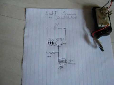 Simple Light Sensor Circuit  Leds on by night off by day (tree of light) JB  YouTube