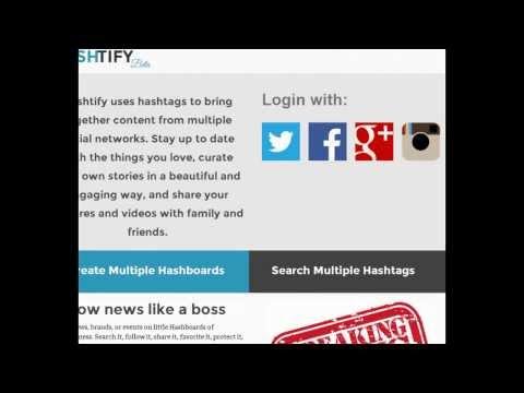 Hashtify.com - New Social News Aggregator