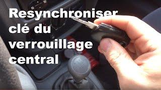 Resynchroniser clé du verrouillage central sur une Renault Clio 2