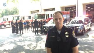 Highland Park Officers Paying Respect