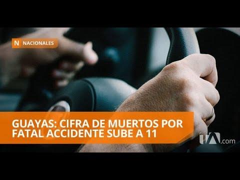 Cifra de muertos por accidente en vía Tres Postes-Jujan sube a 11 - Teleamazonas