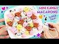 How to Make MINI Kawaii Animal Macarons!
