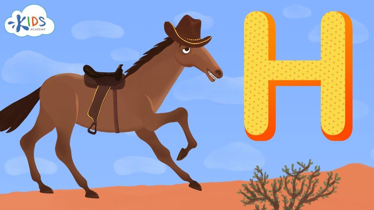 Learn Alphabet For Preschool And Kindergarten Letter H Kids Academy Youtube
