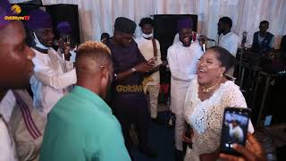 BRODA SHAGGI AND TOYIN ABRAHAM IN DANCING COMPETITION AT REVOLUTION PLUS END OF THE YEAR PARTY