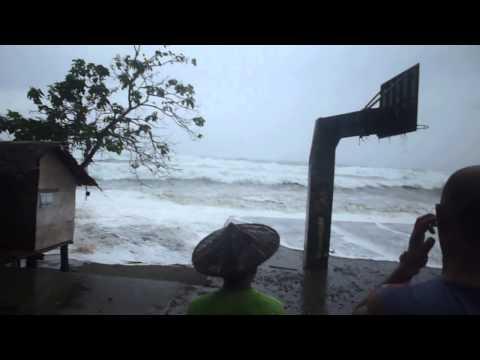 Storm Surge at Sta. Maria, Presentacion, Camarines Sur