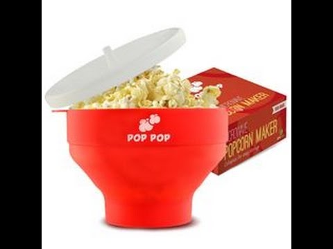828d6c4dbf2 Review Healthy Microwave Silicone Popcorn Popper Maker Collapsible Bowl For  Kitchen DIY