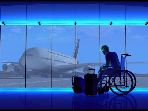 в САМОЛЁТ на ИНВАЛИДНОЙ КОЛЯСКЕ ночной рейс ЧИКАГО-ЛАСВЕГАС Dostup Disability