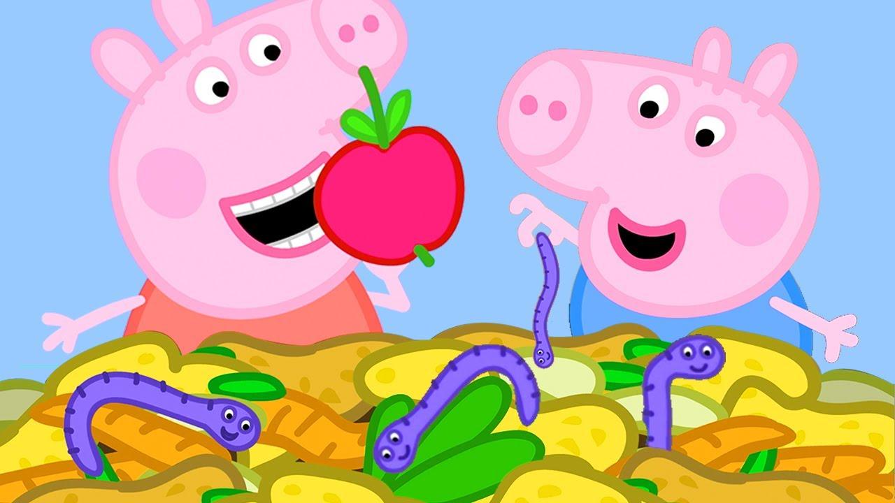 Peppa Pig Português Brasil | O ADUBO 🍎 | HD | Desenhos Animados