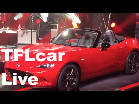 2016 Mazda Miata MX-5 Debuts with Duran Duran backup (live event video)