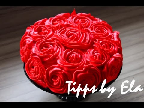 Rose Cake Tutorial Whipped Cream