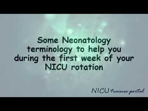 NICU Basics: commonly used terminology in the NICU