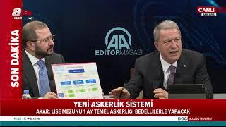Milli Savunma Bakanı Hulusi Akar yeni askerlik sistemini canlı yayında açıkladı!