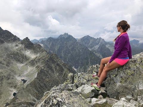Hiking to Vychodna Vysoka, 2428m peak in High Tatras, Slovakia 4K