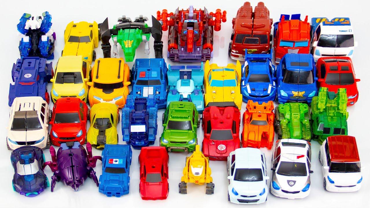Роботы Трансформеры, Тоботы и Дикие Скричеры Трансформируются.