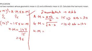 #22, Business Statistics | Relation between Arithmetic Mean, Geometric Mean & Harmonic Mean