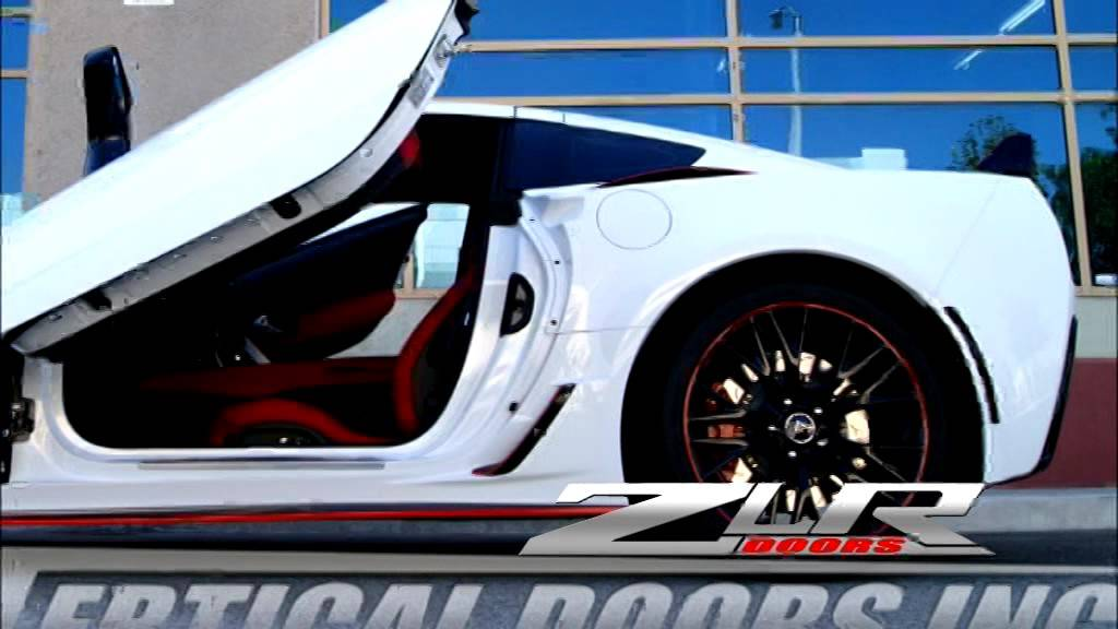 Chevrolet Corvette C7 Stingray with ZLR Door Conversion by Vertical Doors Inc. & Chevrolet Corvette C7 Stingray with ZLR Door Conversion by Vertical ...