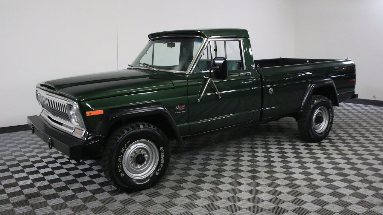 1974 Jeep J20 Gladiator Green Youtube