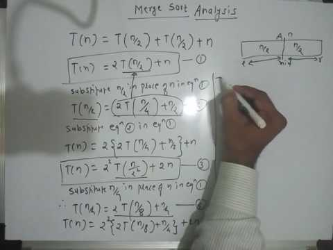 Merge sort time complexity analysis