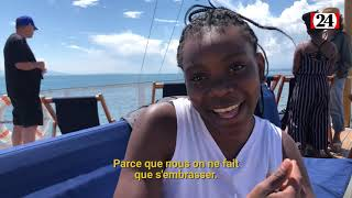 Des élèves namibiens en croisière sur le lac