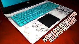 Marble Skin Installation on Laptop Palmrest 😍 | Marble laptop skin application | DIY Laptop Skin