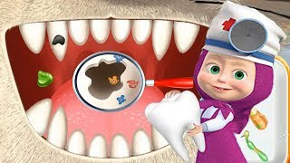 Маша и Медведь Маша Зубной Врач Маша Стоматолог Лечит Зубы ТИГРУ