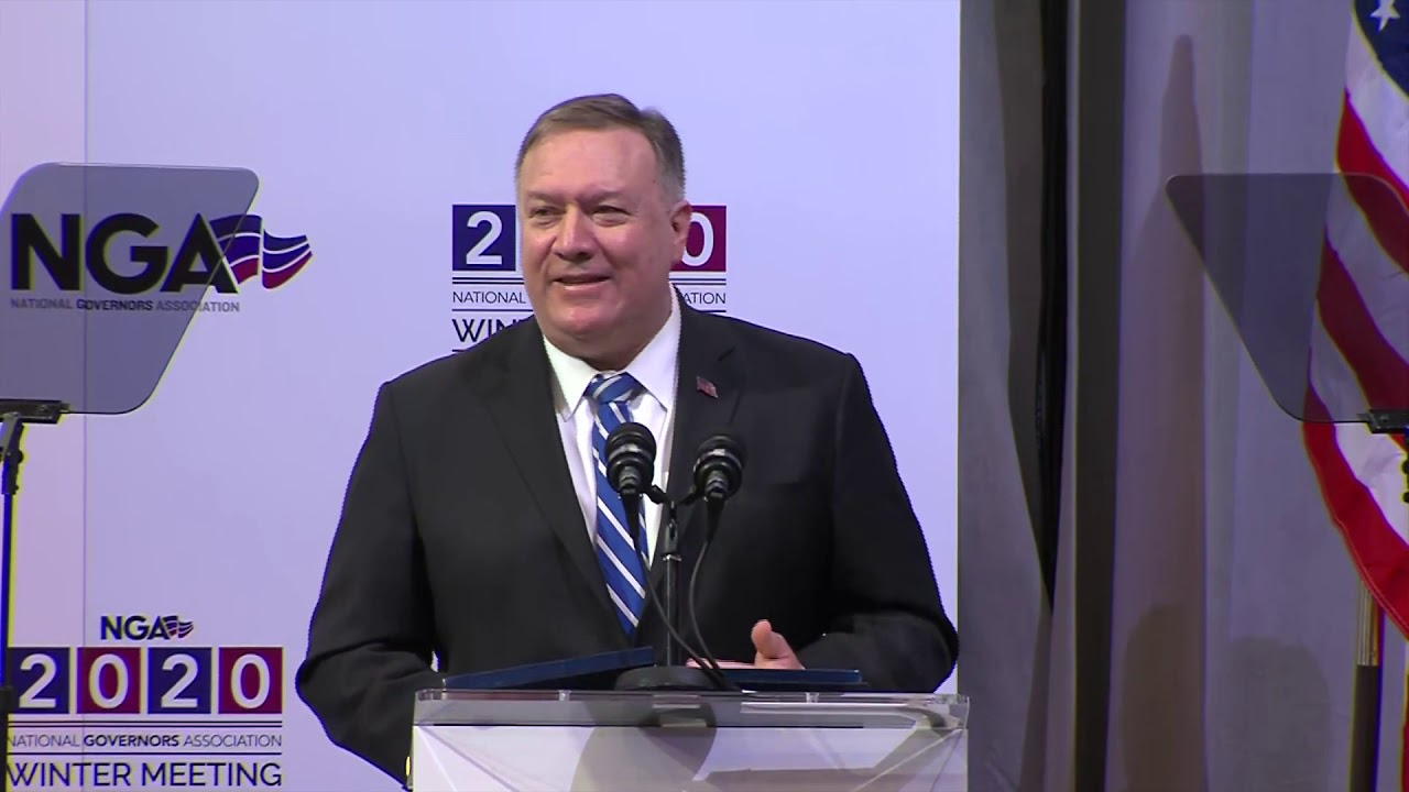 Secretary Pompeo remarks to the National Governors Association 2020 Winter Meeting.