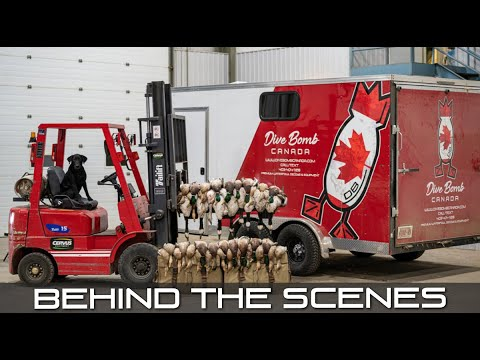 Awesome Dry Field Duck Hunting & Dive Bomb Canada Exclusive Warehouse Tour!!