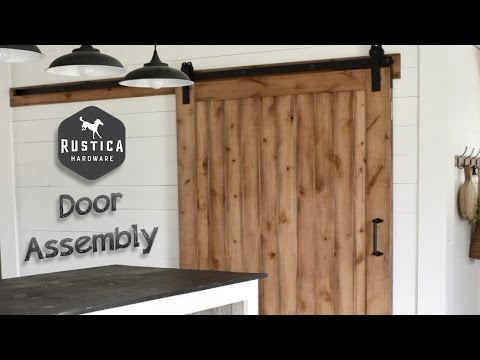 Rustica Hardware Vertical Slat Sliding Barn Door Assembly