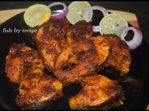 Simple and spicy fish fry recipe fish fry in kannada for Easy fish fry recipe
