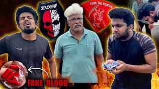 Jolochip Fake Blood Vomit Prank | Dad terrified!