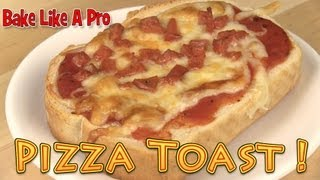 Pizza Toast Recipe - Toast Pizza Recipe !