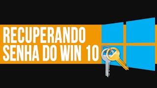 Como retirar (quebrar) senha de Administrador do Windows 10 | TUTORIAL