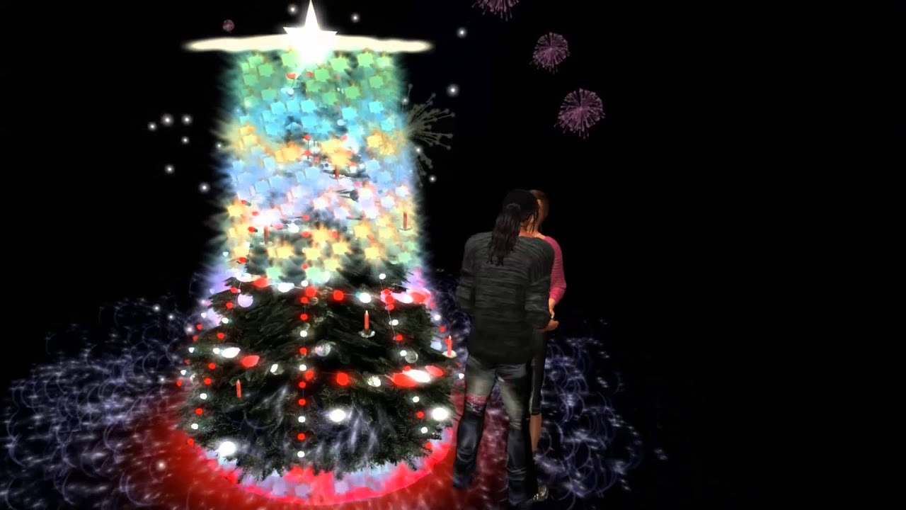 Musical Christmas Tree With Light Show In Second Life