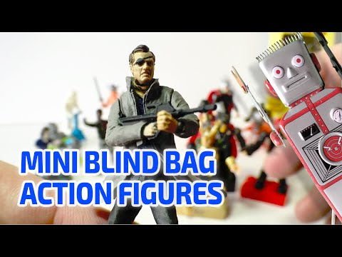 ACTION FIGURE BLIND BAGS + More Working Miniature Action Figures