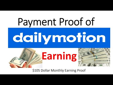 My Dailymotion $105 Earning Proof | How to make money on Daily-motion