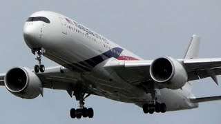 Malaysian Airlines Airbus A350-900 Landing at Heathrow Airport
